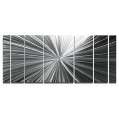 Sebastian R. Hand-Ground Metal Raw Wall Sculpture Abstract Modern Contemporary