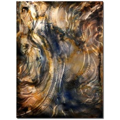 Large Original Metal Wall Art Painting Modern Contemporary Decor Industrial