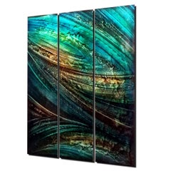 Large Original Abstract Modern Metal Wall Art Painting Industrial Contemporary