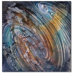 Original Metal Wall Art Large Modern Industrial Abstract Painting Contemporary