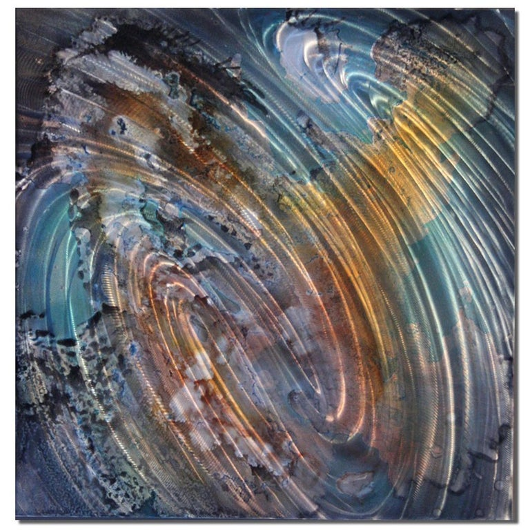Original Metal Wall Art Large Modern Industrial Abstract Painting Contemporary  - Mixed Media Art by Sebastian Reiter
