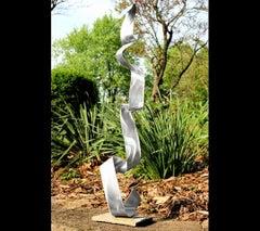 Modern Industrial Sculpture Indoor Outdoor Metal Yard Garden Art Contemporary