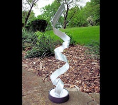 Contemporary Modern Industrial Sculpture Indoor Outdoor Metal Yard Garden Art
