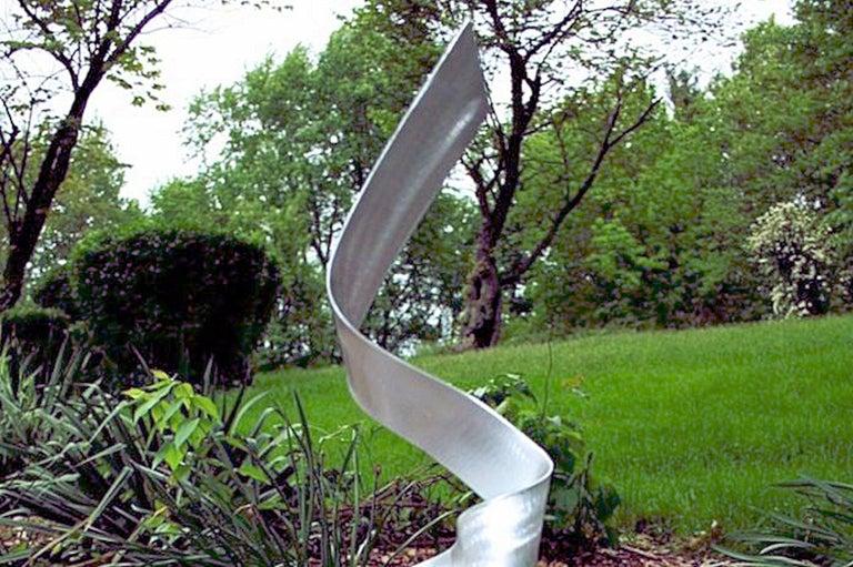 Contemporary Modern Industrial Sculpture Indoor Outdoor Metal Yard Garden Art For Sale 2