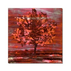 Copper Metal  Landscape Tree Wall Art Sculpture Aluminum Modern Contemporary