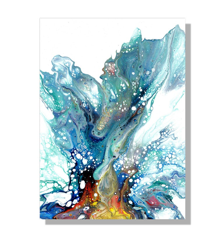Large Metal Wall Art, Modern Abstract Painting, Contemporary Giclee Print Art - Mixed Media Art by Sebastian Reiter