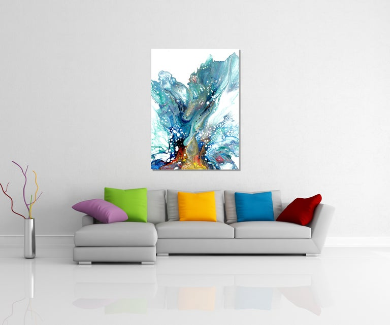 UV cured giclee printed on lightweight metal composite.   -Overall Dimensions: 32h