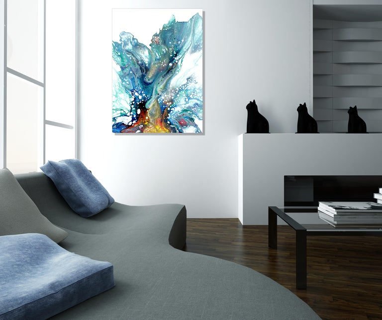 Large Metal Wall Art, Modern Abstract Painting, Contemporary Giclee Print Art 1