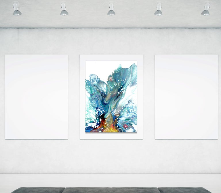 Large Metal Wall Art, Modern Abstract Painting, Contemporary Giclee Print Art 3