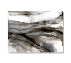 Modern Abstract Print on Metal, Contemporary Painting by Sebastian