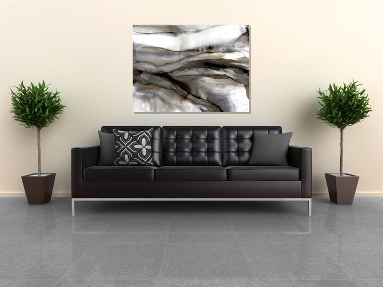 Modern Abstract Print on Metal, Contemporary Painting by Sebastian  For Sale 2