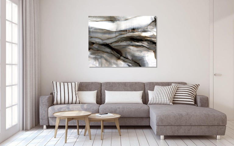 Modern Abstract Print on Metal, Contemporary Painting by Sebastian  For Sale 3