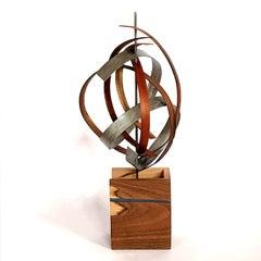 Linenkugel Modern Wood Metal Free-Standing Sculpture Original Contemporary Art