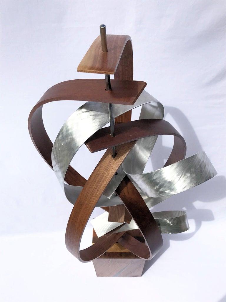 Mid Century Modern Wood Metal Free-Standing Sculpture Original Contemporary Art  1