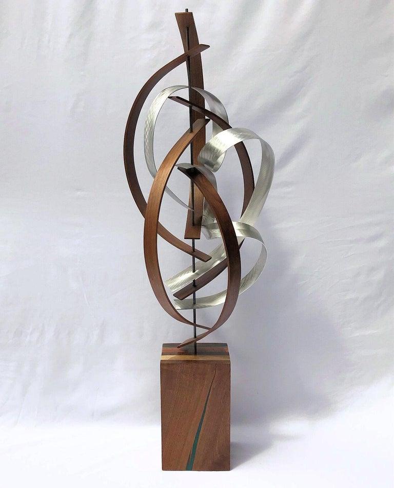 Mid Century Modern Wood Metal Free-Standing Sculpture Original Contemporary Art  2
