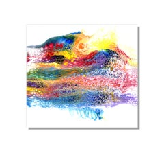 Modern Abstract Contemporary Painting, Giclee Print on Metal, by Cessy