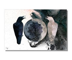 Contemporary Modern Giclee on Metal, Abstract Graphic Art, by Meirav Levy