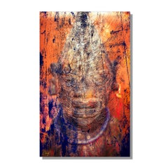 Modern Contemporary Abstract Graphic Art, Giclee on Metal, by Meirav Levy