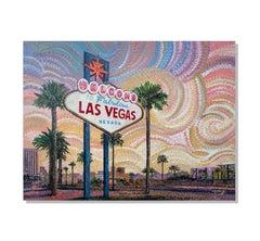 Las Vegas Sign Art, Pointillism, Impressionism, Abstract Painting, Greg Matsey