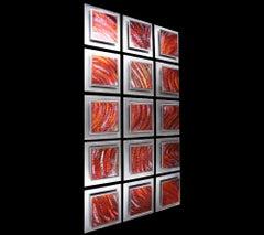 Multi-Panel Wall Sculpture, Modern Contemporary Copper Metal Art, by Sebastian R