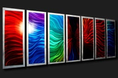 Multi-Panel Modern Contemporary Painted Metal Art, by Sebastian R
