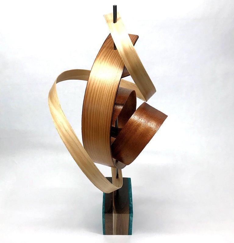 Mid-Century Modern Inspired Wood Sculpture, Contemporary, Jeff Linenkugel - Mixed Media Art by Jeff Linenkugel