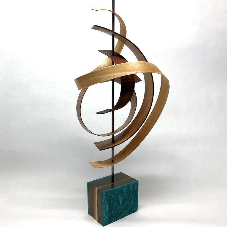 Mid-Century Modern Inspired Wood Sculpture, Contemporary, Jeff Linenkugel For Sale 1