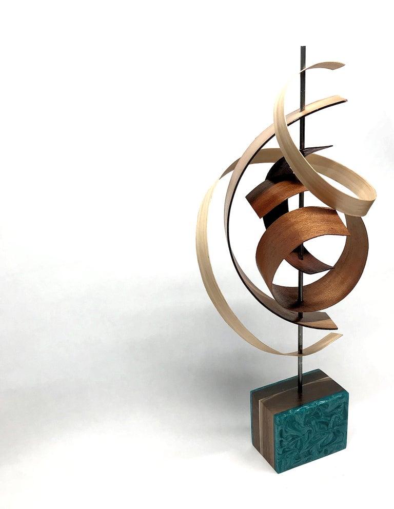 Mid-Century Modern Inspired Wood Sculpture, Contemporary, Jeff Linenkugel For Sale 2