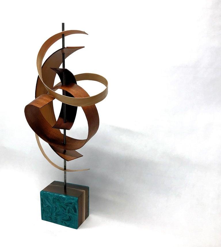 Mid-Century Modern Inspired Wood Sculpture, Contemporary, Jeff Linenkugel For Sale 3