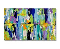 Contemporary Modern Abstract Painting, Giclee Print on Metal, by Cessy