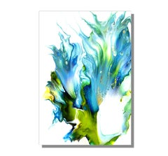Contemporary Modern Abstract, Giclee Print on Metal, Limited Edition, by Cessy