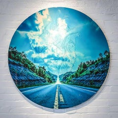 Photography Print on Metal, Landscape, Highway, Mixed Media, Collin R.