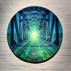 Photography Print on Metal, Mixed Media, Landscape, Bridge, Collin R.