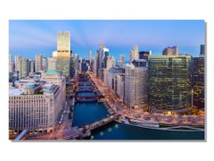 Chicago River Bend, Original Photography, Giclee on Metal, by Scott F.