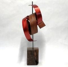 Original, Contemporary, Wood Metal Sculpture, Mid-Century Modern Inspired Art