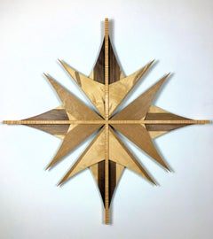 Original, Wooden Abstract Wall Sculpture, Modern Contemporary Art, by Shawn B