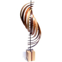 Mid-Century Modern Inspired Contemporary Wood Sculpture by Jeff L.