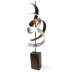 Wood Sculpture, Mid-Century Modern Inspired, Contemporary Abstract, by Jeff L.,