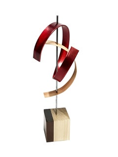 Contemporary Wood and Metal Sculpture, Mid-Century Modern Inspired by Jeff L.,