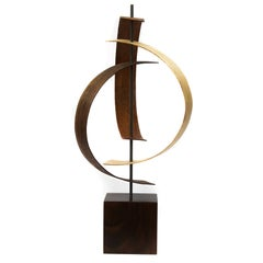Wood Sculpture by Jeff L., Mid-Century Modern Inspired, Contemporary Abstract