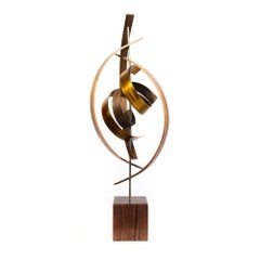 Wood Metal Sculpture, Mid-Century Modern Inspired, Contemporary Art by Jeff L.