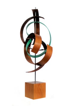Mid-Century Modern Inspired,  Contemporary Wood and Metal Sculpture, by Jeff L.