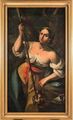 18th century Italian figurative painting - Diana - Venetian oil on canvas Venice