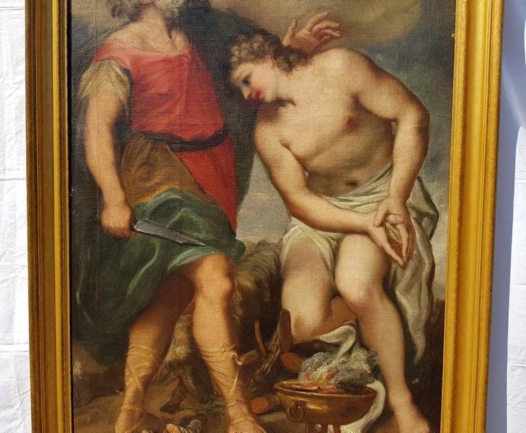 17th century Italian figurative painting - Isaac - Oil on canvas - Venice Figure For Sale 2