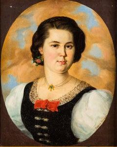 19th century Italian portrait painting - Figure - Oil on canvas, Italy Milan