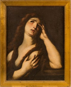 17th century Italian figurative painting Magdalene Oil on canvas figure Baroque