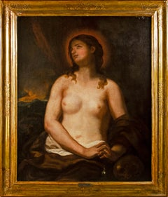 17th century Venetian figure painting - Mary Magdalene - Oil on canvas Venice