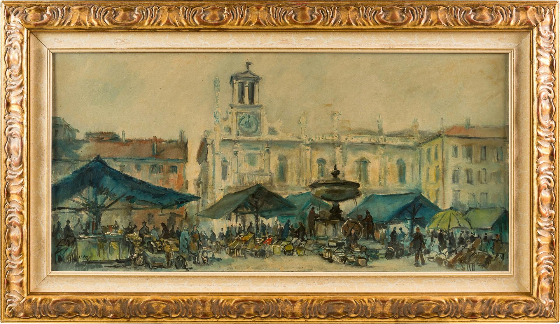 20th century Italian landscape painting - View of Udine - Oil on canvas Italy