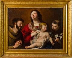 17th century Italian figurative painting - Virgin Child . Oil on canvas Madonna
