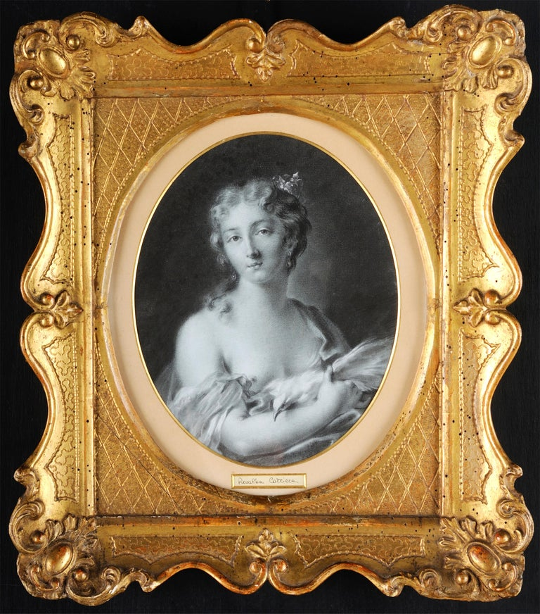 Rosalba Carriera Portrait Painting - 18th century Italian figurative painting Allegory - Portrait pencil paper Venice